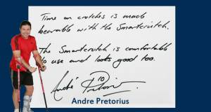 smart crutch testimonial about pain free useby Andre Pretorius