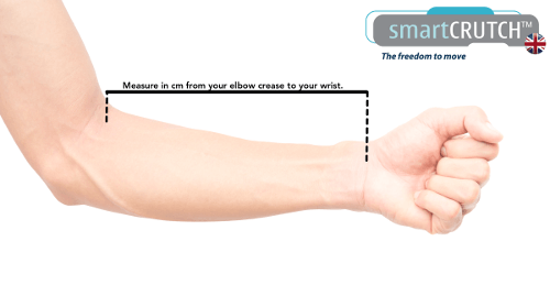 smartcrutch forearm measurements how to