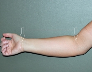 how to measure your forearm