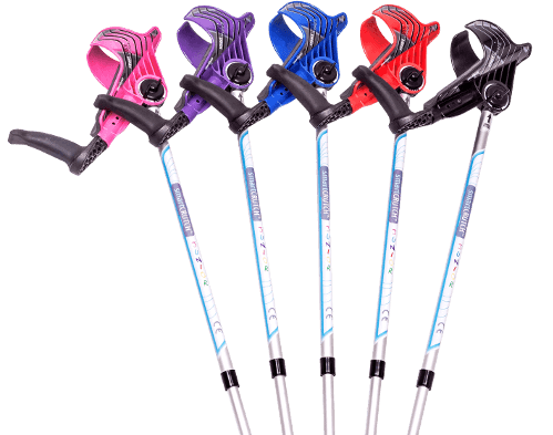 junior smartcrutches and the colour range