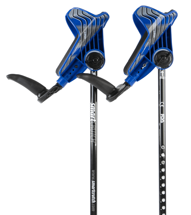 blue crutches from smartcrutch