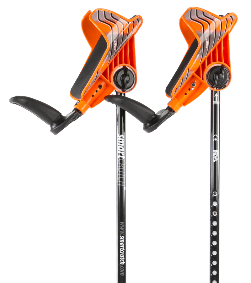 orange crutches from smartcrutch