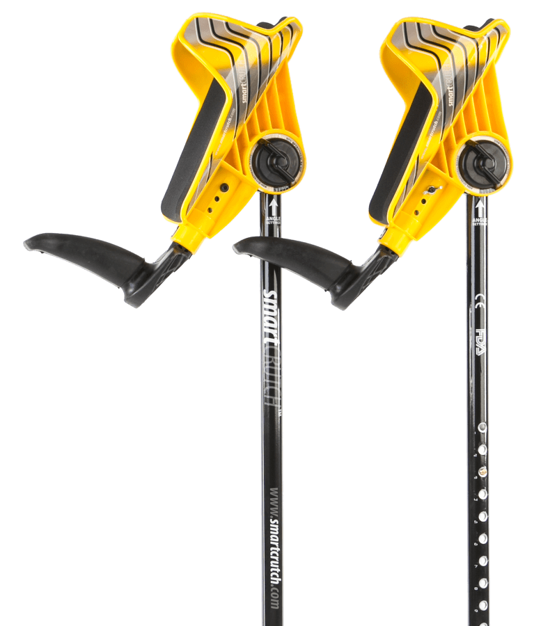 yellow crutches from smartcrutch